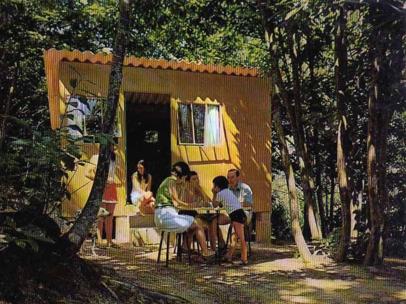 Carte postale par Grellet : bungalow