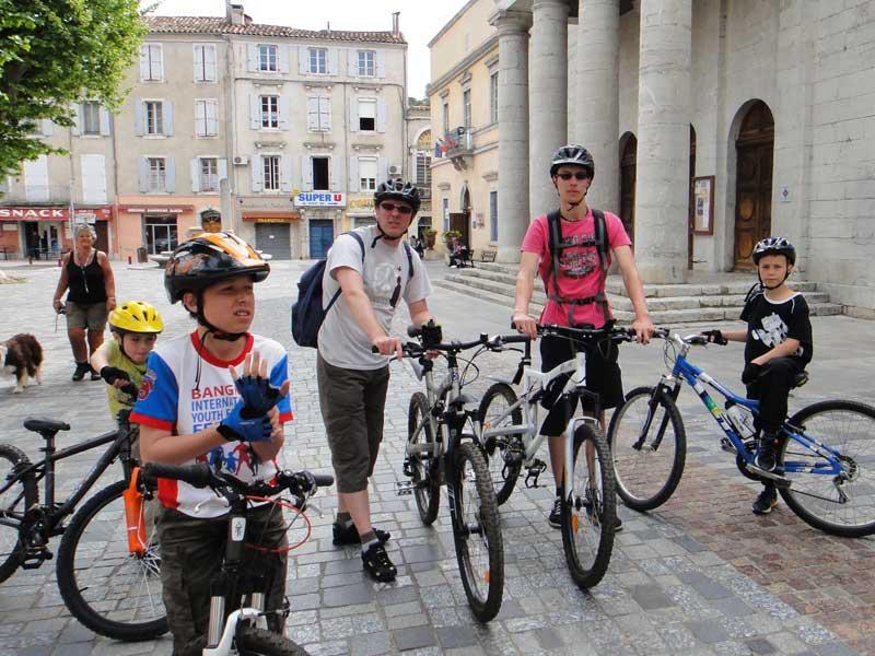 Vélo en famille à Anduze