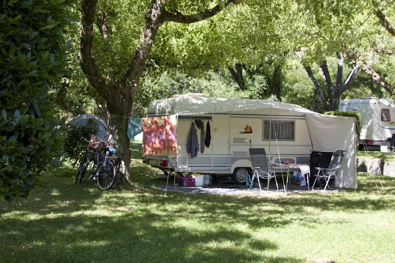 Caravane et vélos