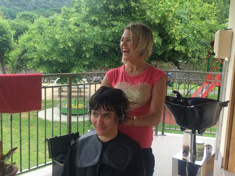 coiffure décontractée