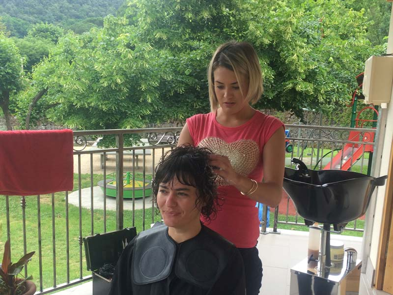 coiffure en extérieur